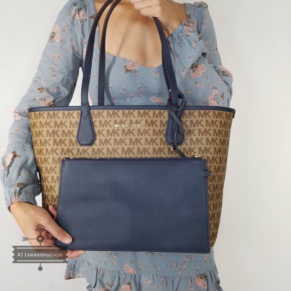 408e39fa2fb599 Michael Kors Bags | Candy Large Reversible Tote Navy Bag | Poshmark